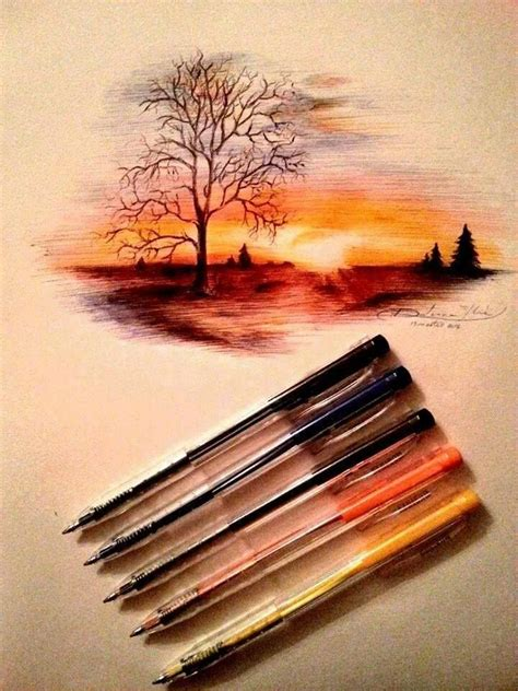 sunset art  sketches art drawings art sketches