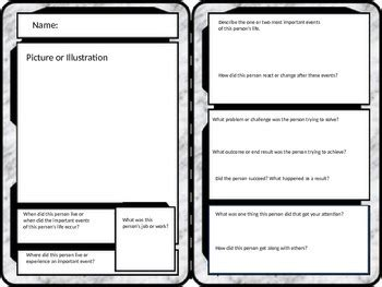 trading card template personhistorical figure