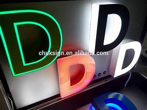 colorful unique portable illuminated acrylic channel With channel letter led lights