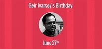 Birthday of Geir Ivarsøy: Co-creator of Opera web browser