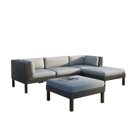 outdoor sofa with chaise 5 pc sofa with chaise lounge patio set ppo 804 z