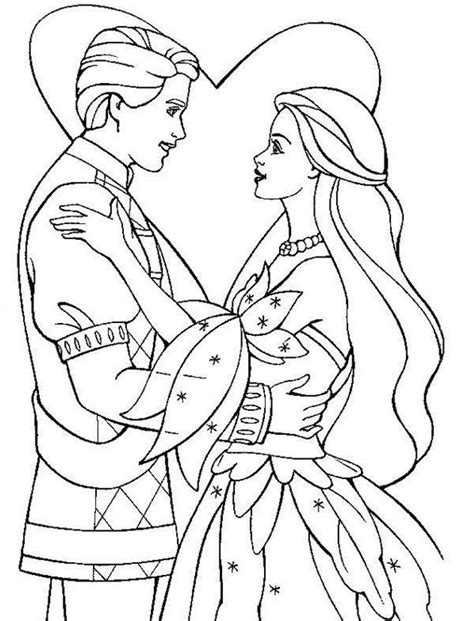 Princess & Prince Coloring Pages Coloring Home