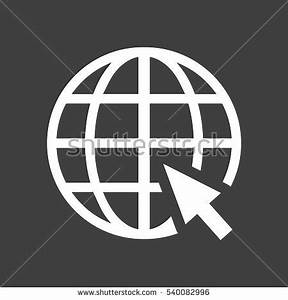 Globe Web Icon Flat Vector White Stock Vector 540082996 ...
