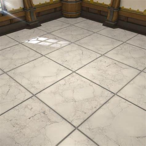 Carrelage en marbre blanc FFXIV Logement   intérieur
