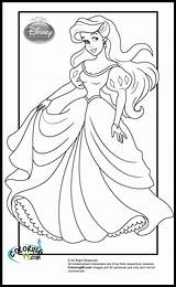 Princess Disney Coloring Pages Princesses Ariel Colors Teamcolors sketch template