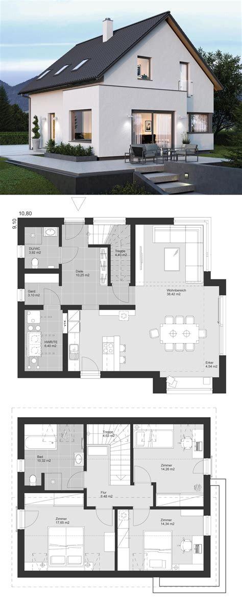 Haus Mit Erker Modern by Modernes Haus Mit Erker Anbau Satteldach Architektur