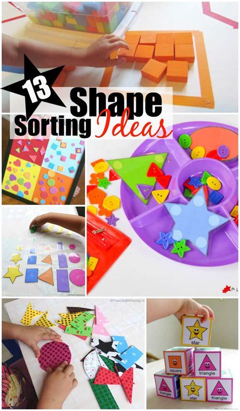 shape sorting ideas  preschoolers