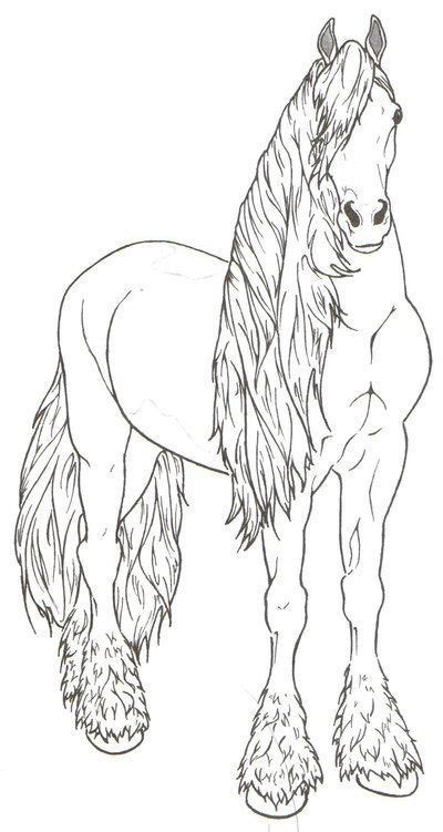 coloring beautiful friesian horse coloring pages horse coloring animal coloring