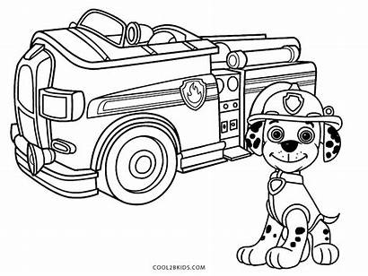 Coloring Truck Fire Pages Printable Marshall Paw