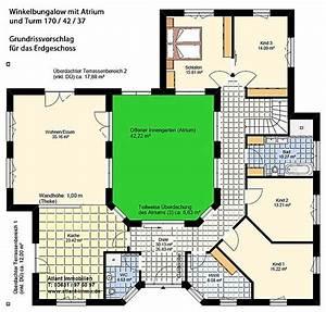 Atrium Bungalow Grundrisse : atrium 7 2 winkelbungalow turm 170 42 37 einfamilienhaus neubau massivbau stein auf stein spa ~ Bigdaddyawards.com Haus und Dekorationen