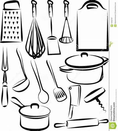 Kitchen Cuisine Utensil Ustensile Ustensiles Utensils Coloring