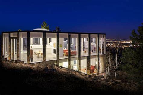 glass house  night homemydesign