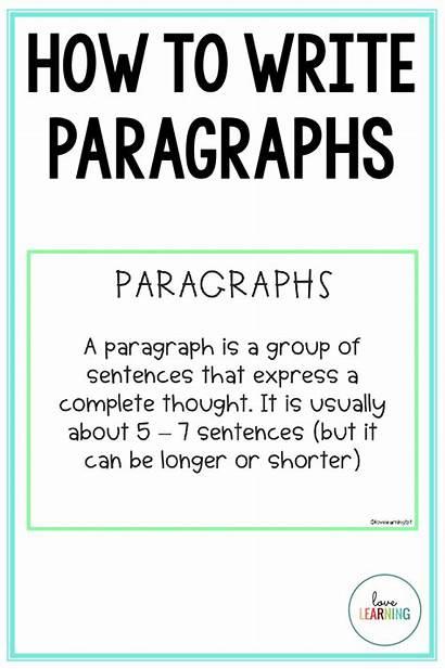 Writing Paragraphs Step Paragraph Write Teaching English