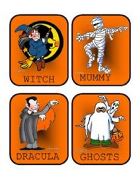 English Teaching Worksheets Halloween Flashcards