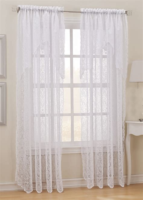 lace panel curtains pollencia sheer lace curtain panel ebay