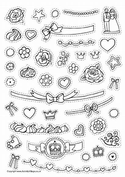 Cake Decorate Coloring Pages Decorating Worksheets Printable