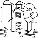 Barn Coloring Pages Silo Barns Elevator Simple Preschool Drawing Colouring Farm Grain Sheets Template Quilt Printable Clipart Clip Colorluna Animals sketch template