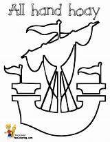 Ship Pirate Pages Coloring Sailing Colouring Sails Yescoloring Pirates Seas Boats Boys sketch template
