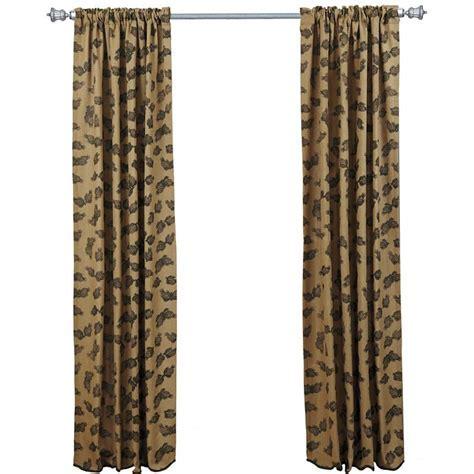 Pine Cone Printed Burlap Curtain Panels