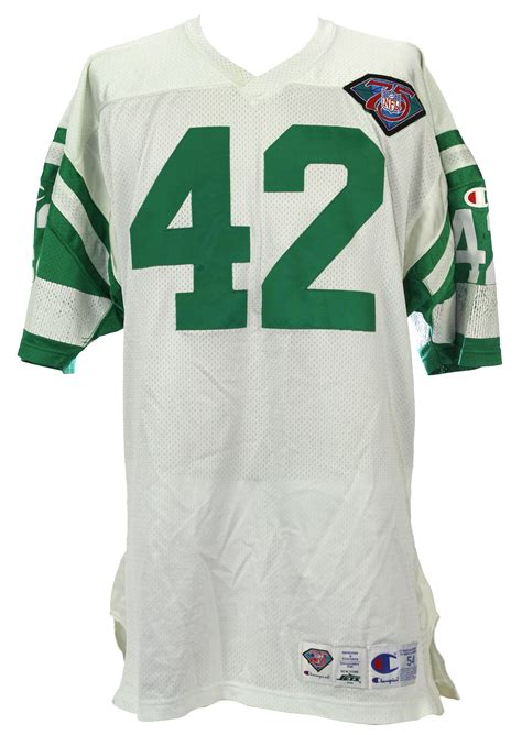 home jersey lot detail 1994 ronnie lott new york jets worn home Jets