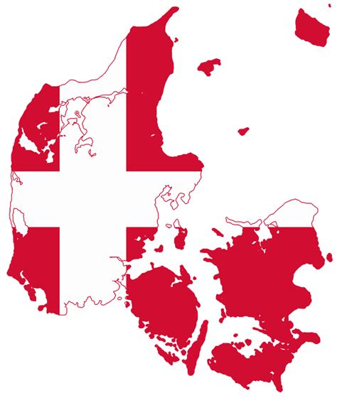 denmark map flag