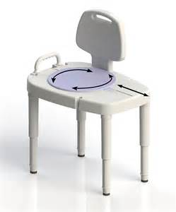 bathtub transfer bench with rotating swivel seat