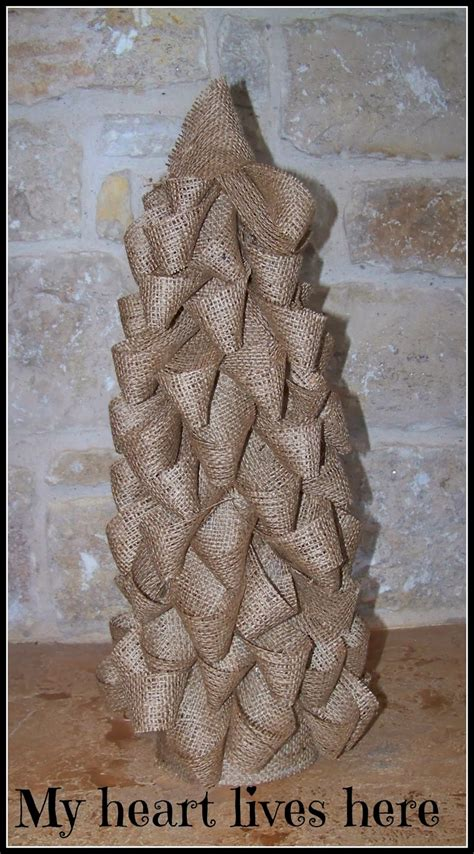 how to make a burlap christmas tree burlap tree my lives here