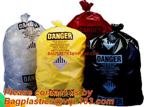 medical waste poly bag medical printed waste bag