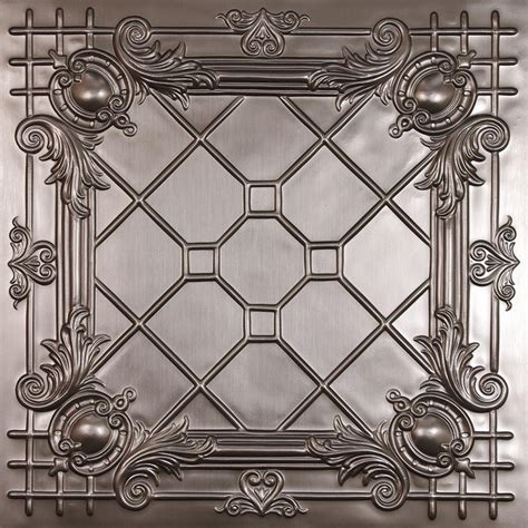 faux ceiling tiles ceilume bentley faux tin 2 ft x 2 ft lay in or glue up