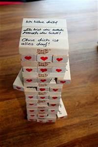 DIY Jenga Spiel Jahrestag Geschenke Liebesgeschenke Und