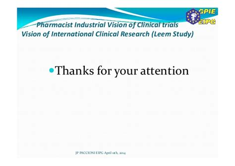 Clinical Research Pharmacist by Industrial Pharmacist Vision Of Clinical Trials