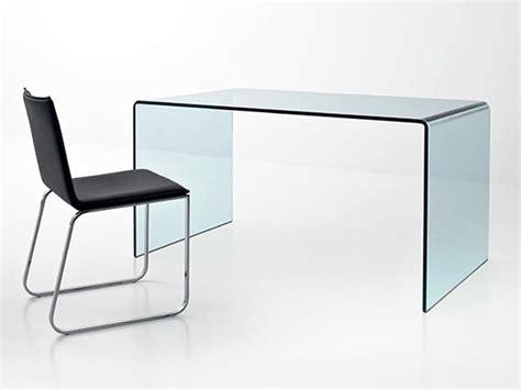 bureau table en verre bureau design bois verre mzaol com