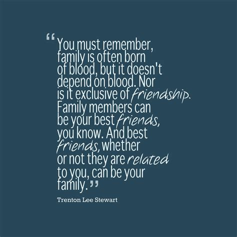 picture trenton lee stewart quote  family