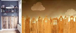 Decorer une chambre d39enfant avec des palettes les for Deco chambre enfant avec fenetre cintree bois