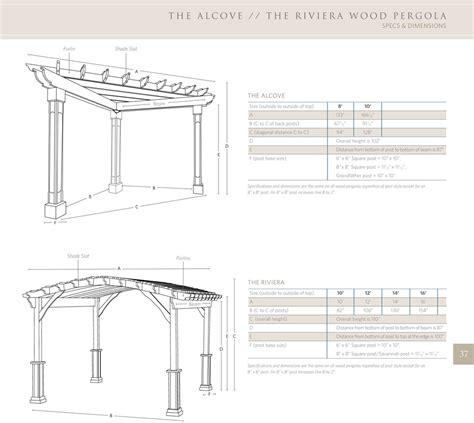 standard pergola measurements riviera wood pergola ohio hardwood furniture