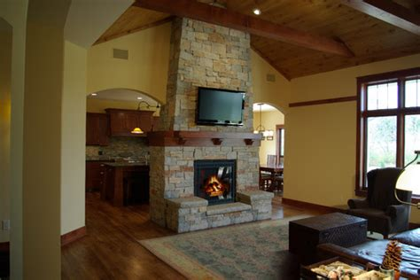 two sided fireplace is this a sided fireplace exposed to the kitchen