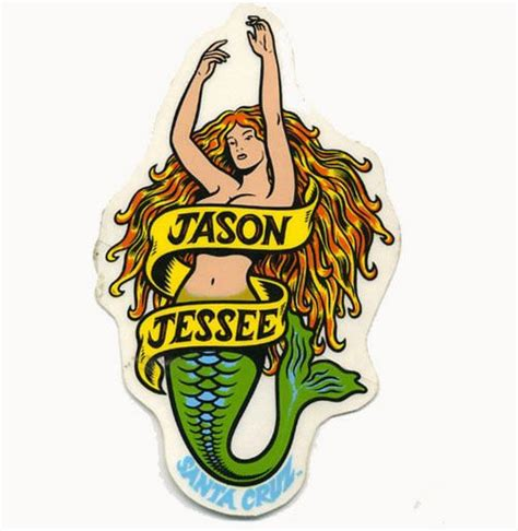 Jason Jessee Mermaid Deck by Jason Jessee Skateboarding