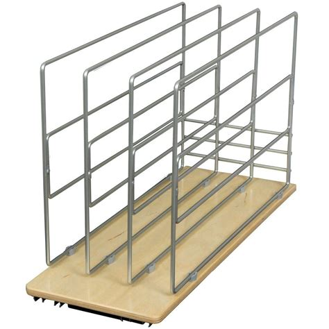 kitchen cabinet divider rack knape vogt 14 in h x 9 in w 22 in d pull out tray 5259