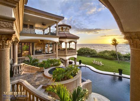 mediteranean beachfront luxury home design weber design