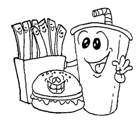 cuisine color foods coloring pages