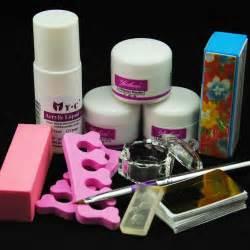 Nail acrylic powder liquid set for art design toes separator