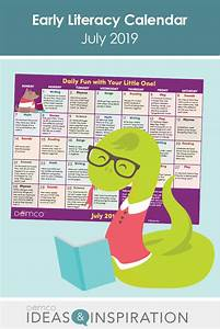 Early Literacy Activities Calendar  U2014 July 2019  Crafts