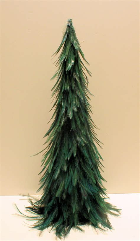 luxurious deep forest green 20 quot christmas feather tree