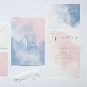 picture of watercolor pink and blue wedding invitations With watercolor wedding invitations australia