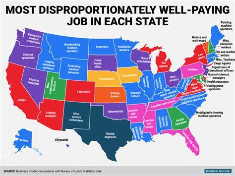 disproportionately  paying job   state