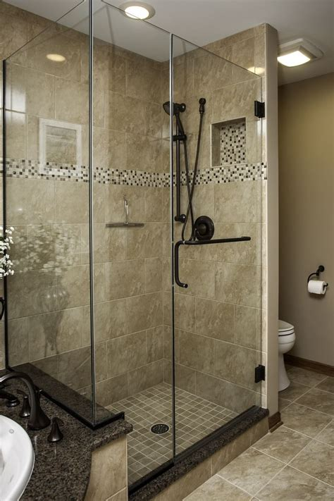 shower ideas for master bathroom plainfield master bath shower oil rubbed bronze hardware mosaic accent tile frameless glass