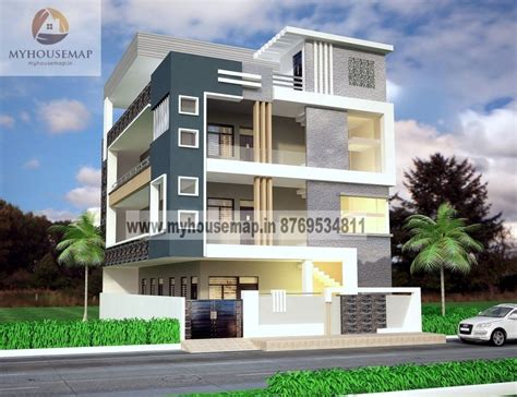 modern elevation design of residential buildings front