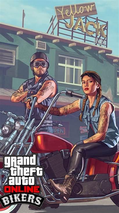 Theft Grand Wallpapers Mobile Gta Bikers Dlc