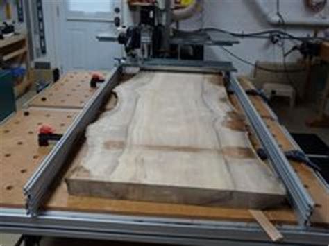 plane  wood slabs   planing sled   build