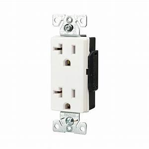 Prise 20 Ampere : shop cooper wiring devices 20 amp white decorator duplex ~ Premium-room.com Idées de Décoration